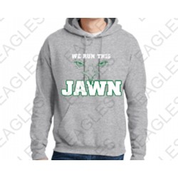 Run This Jawn Hoodie Gray